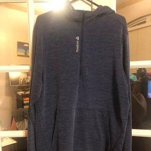 Reebok Dri- fit dark grey 1/4 zip pullover hoodie